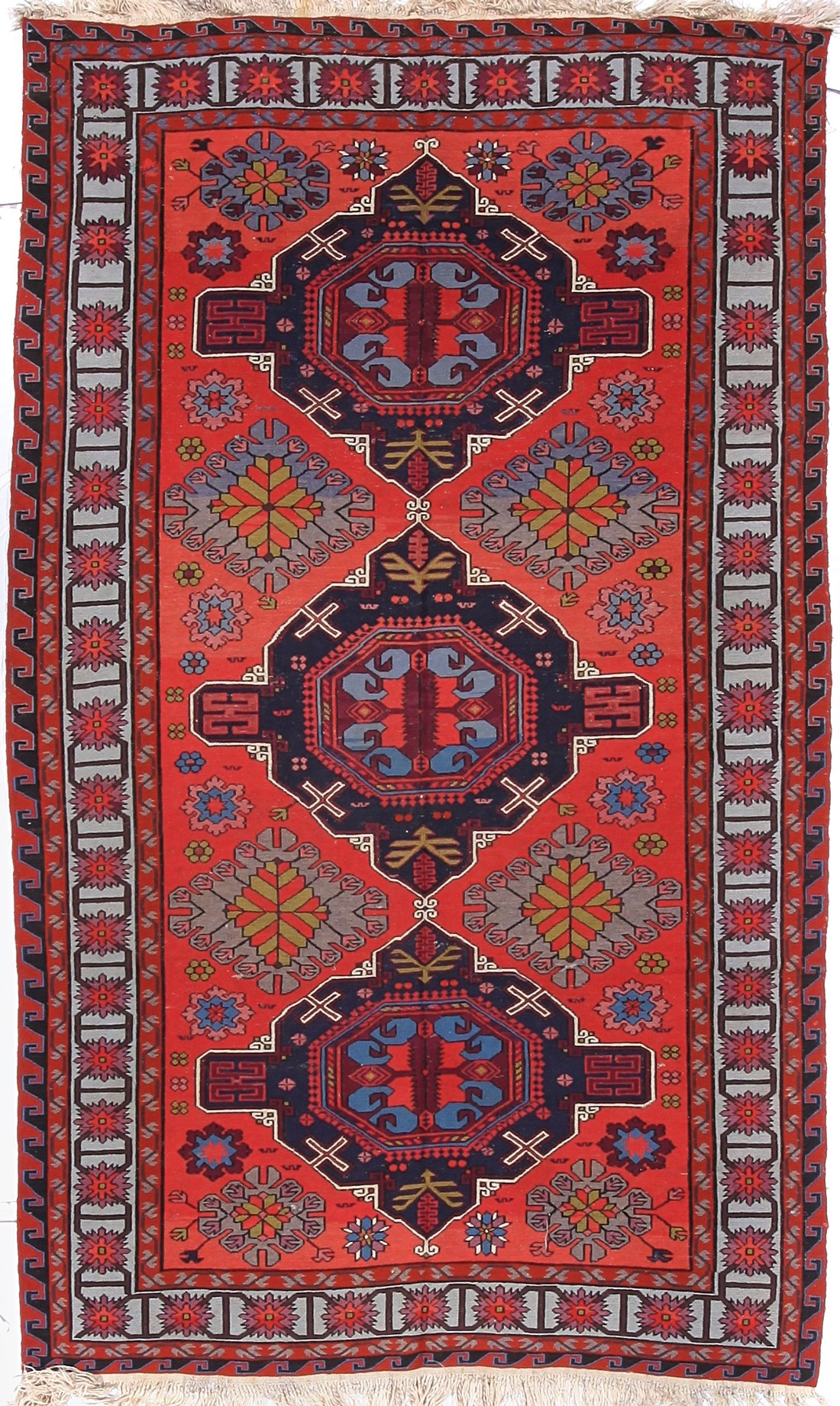 Antique Russian Soumak Rug