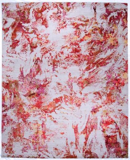 Jaipur Living Unstring By Kavi Blue Blush/Red Lacquer Rugs